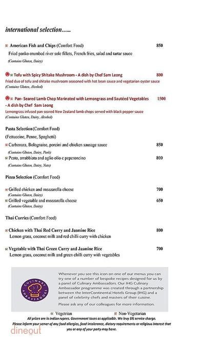 Mosaic - Crowne Plaza Menu 3