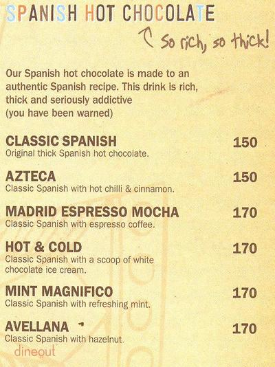 Chocolateria San Churro Menu 1