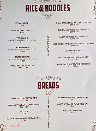Aureo Dine & Bake House Menu 12