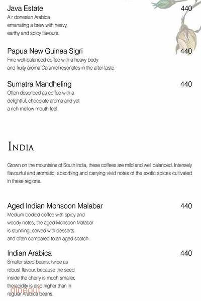 The Tea Lounge - Taj Palace Menu 9