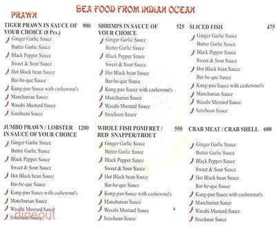 The Golden Dragon Menu 5