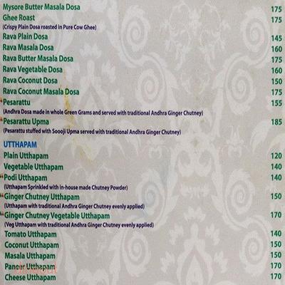 Madhuban - Sattvic South Indian Restaurant Menu 2