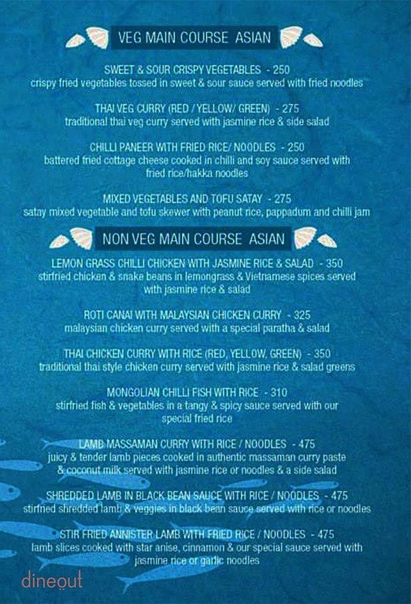 Menu Of Ocean Grill Salt Lake Kolkata Dineout Discovery