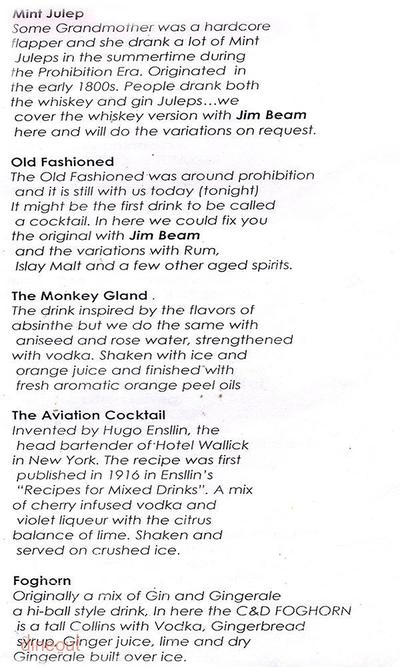 Cocktails & Dreams Speakeasy Menu 10