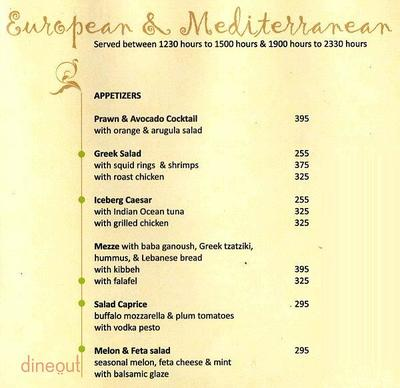 Melange - The Pllazio Hotel Menu 4