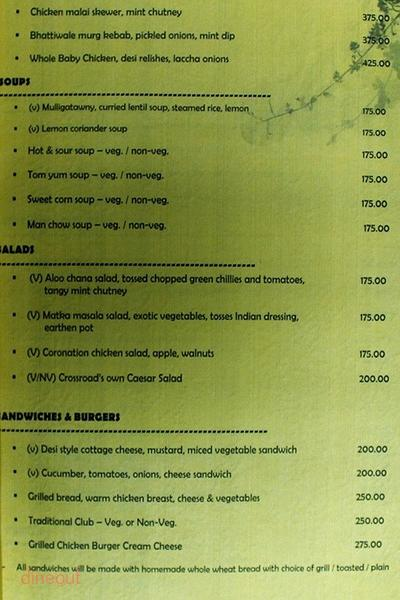 The Food Junction Menu 1