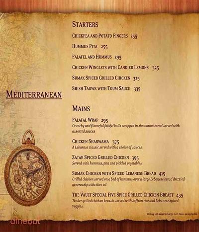 The Vault Cafe Menu 8