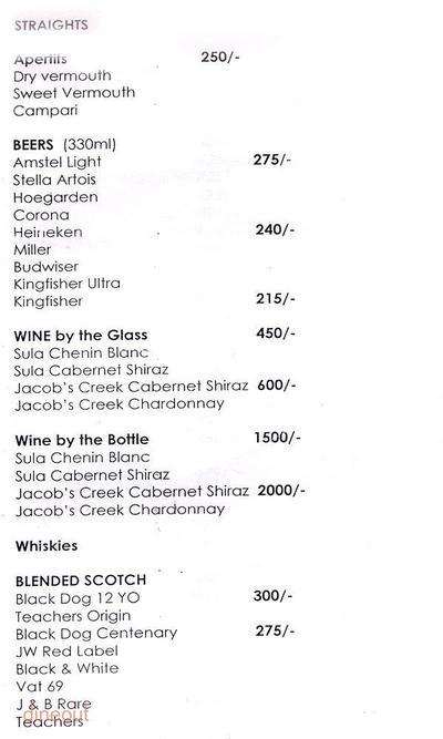 Cocktails & Dreams Speakeasy Menu 12