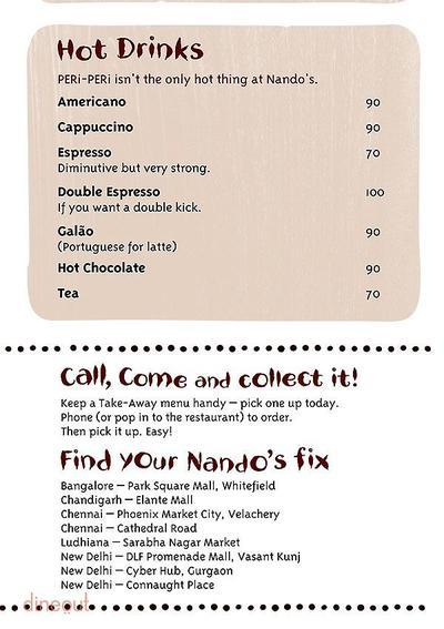 Nando's Menu 12