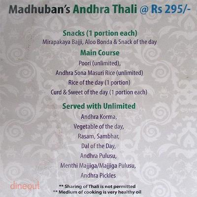 Madhuban - Sattvic South Indian Restaurant Menu 4