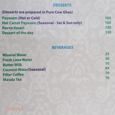 Madhuban - Sattvic South Indian Restaurant Menu 7