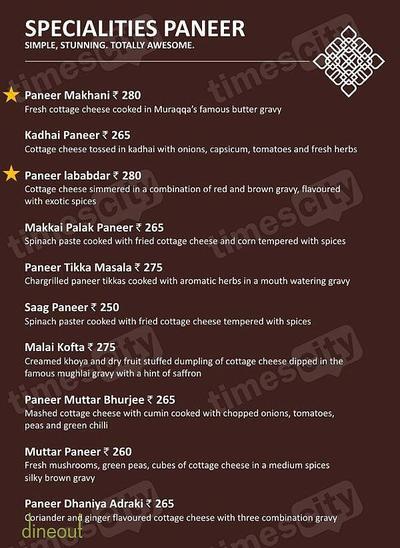 Muraqqa - The Indian Restaurant Menu 7